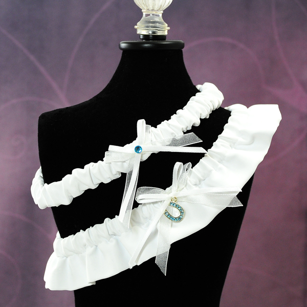 Couture Garters For Wedding: Good Luck Wedding Garter In White