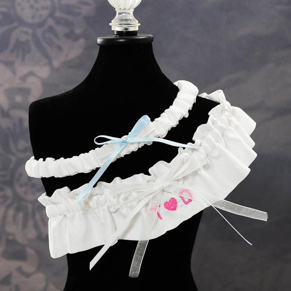 Couture Garters For Wedding: Love Initials Wedding Garter