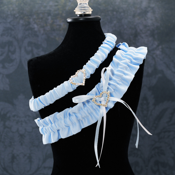 Couture Garters For Wedding: Blue Crush Wedding Garter