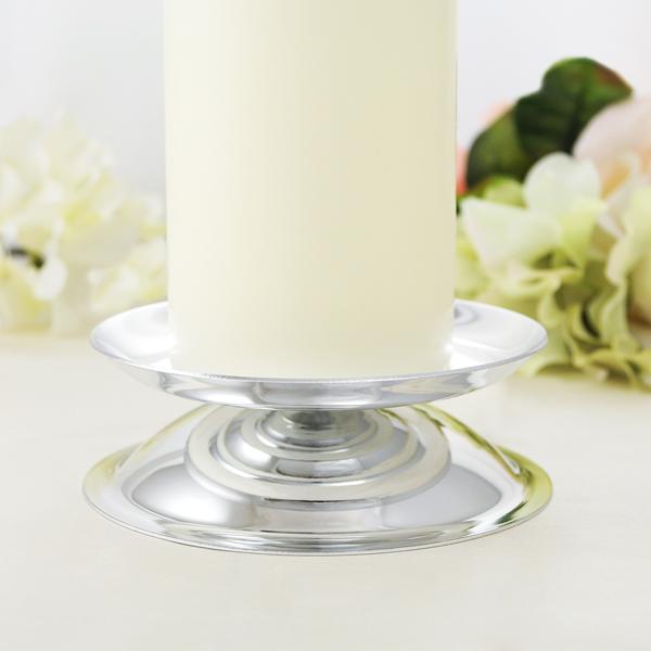 Silver Pillar Candle Holder