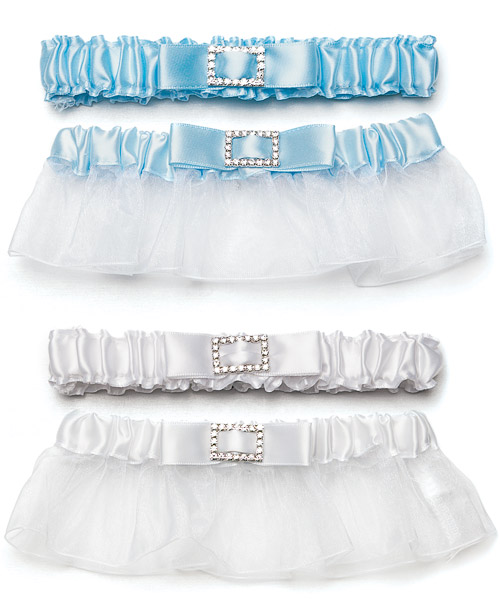 Couture Garters For Wedding: Classic Garters With Buckle