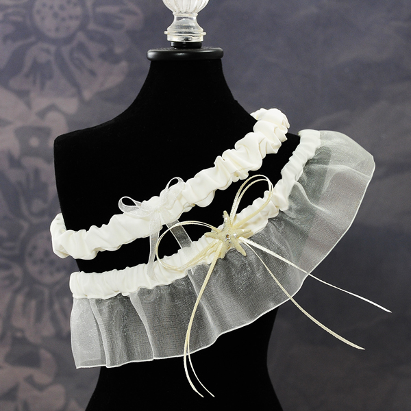 Couture Garters For Wedding: Beach Wedding Garter