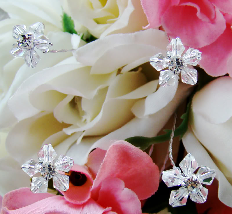 Crystal Flower Bouquet Jewelry - Couture Bridal
