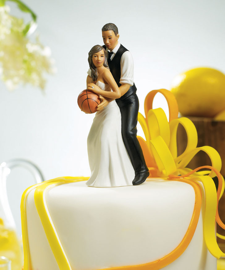 basketball couple wedding cake topper basketball team sports wedding cake topper 11101