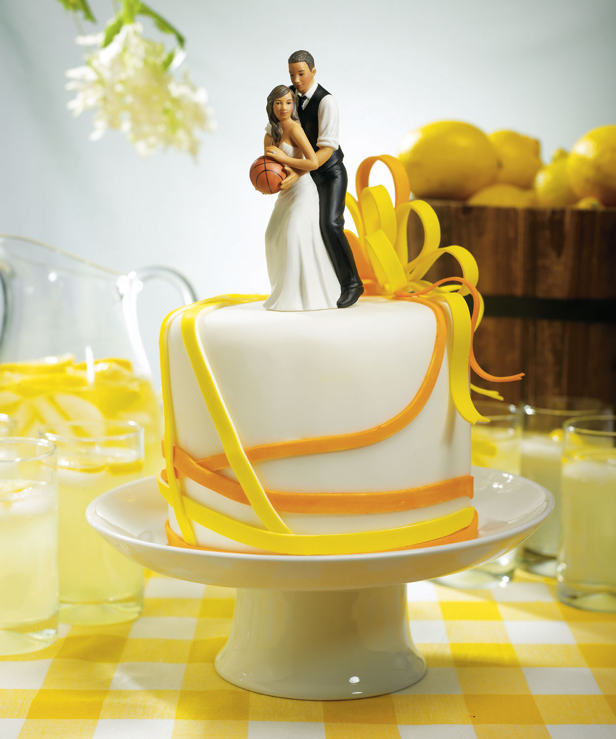 Basketball Dream Team Couple Sports Wedding Cake Topper - Couture Bridal