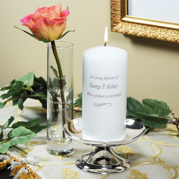 Personalized Memorial Unity Candle Set
