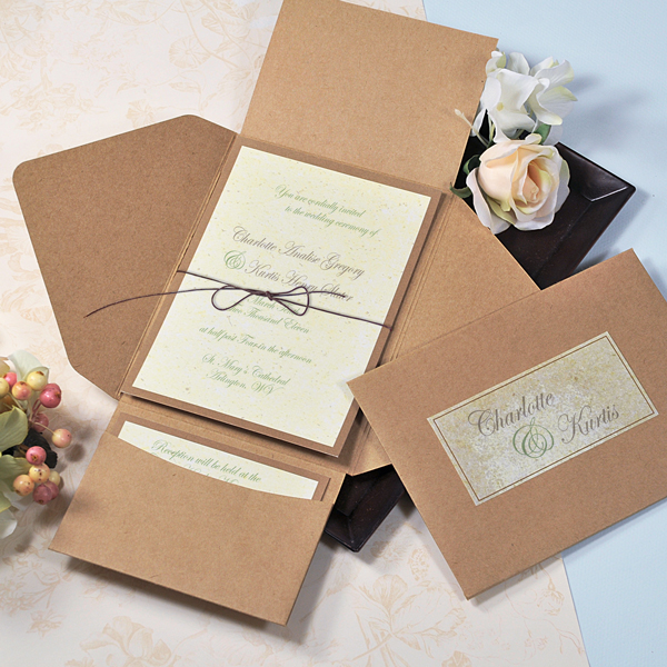 Wedding Invitation Diy Kits: Premium Self-Mailer Invitation Kit