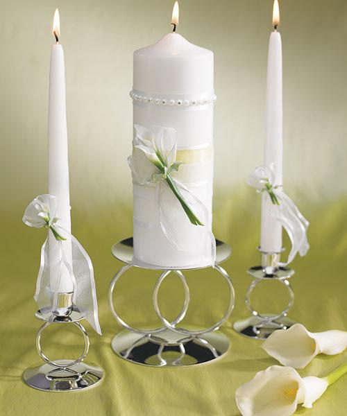 Bridal Beauty Calla Lily Wedding Ceremony Unity Pillar Candle