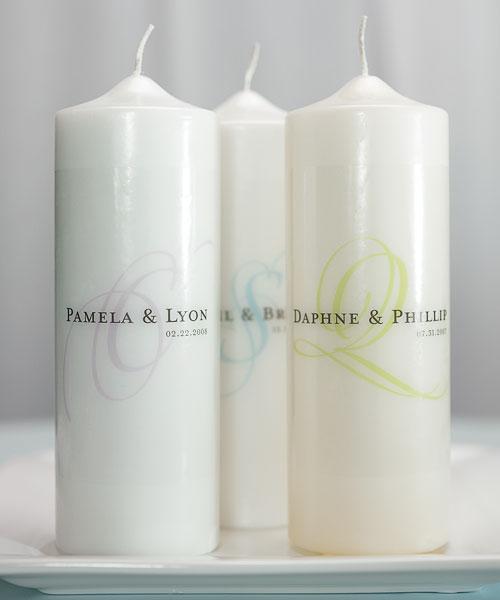 Modern Monogram Personalized Unity Candle